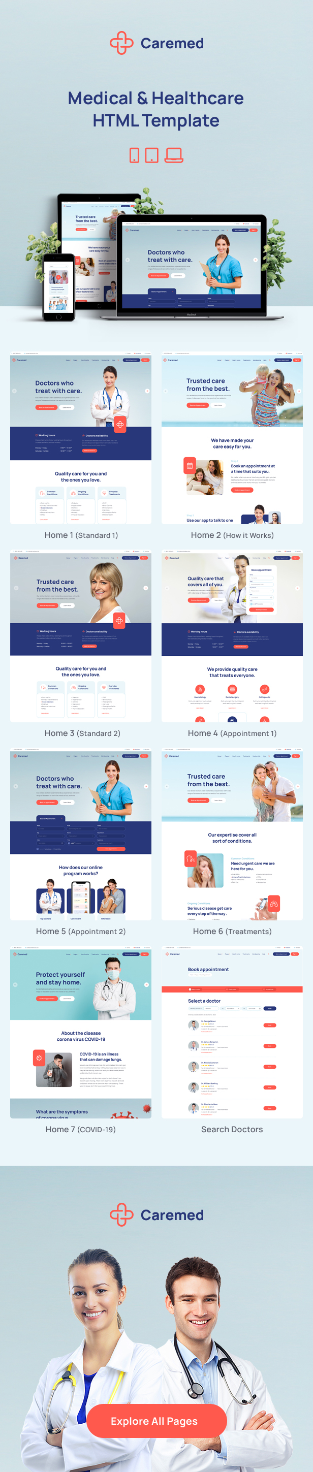 Caremed - Medical HTML Template - 1